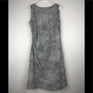 J. McLaughlin Sage Ruched Dress Size L Sleeveless
